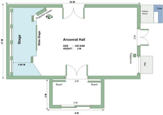 Aroonrat Hall plan